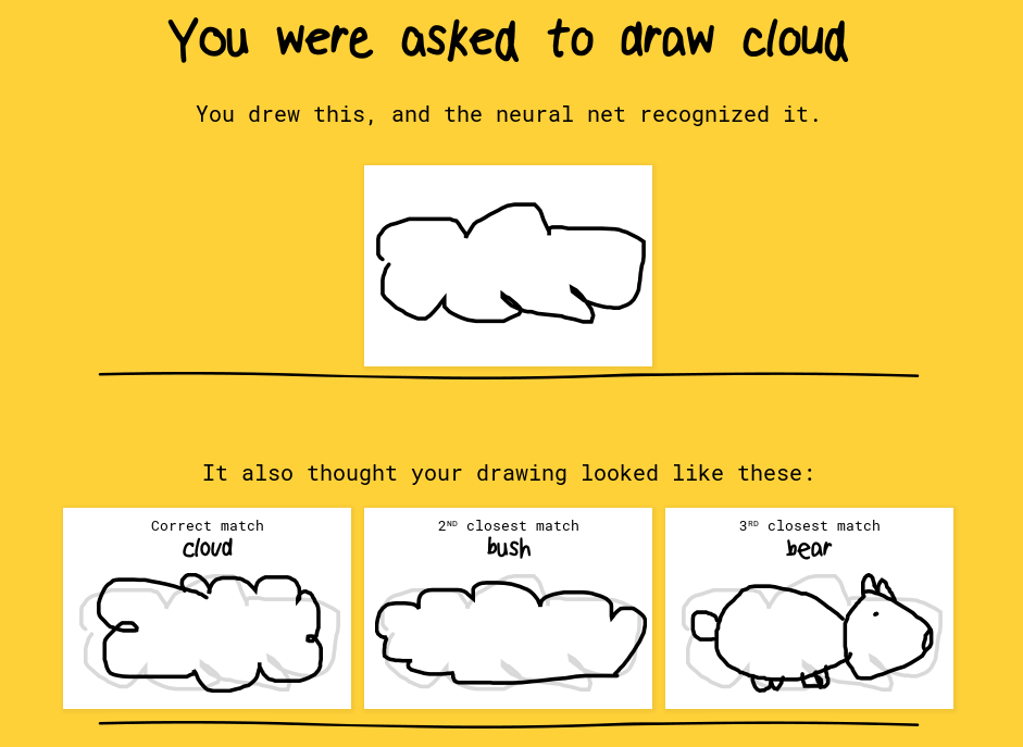 IA de reconocimiento de bosquejos Quick Draw