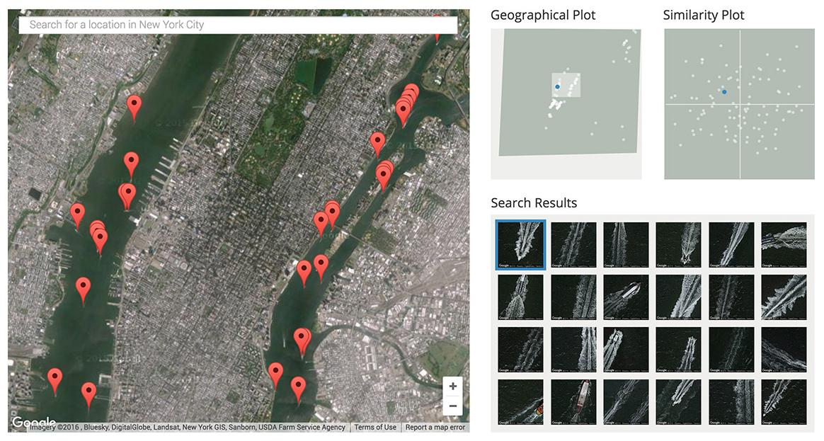Patrones de barcos en imágenes satelitales